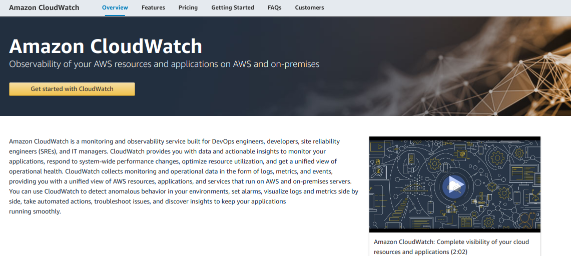 Amazon Cloudwatch Monitoring Observability Service