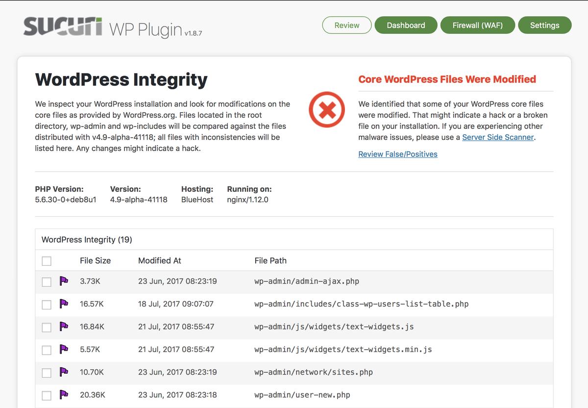 Wordpress Security Plugin Sucuri